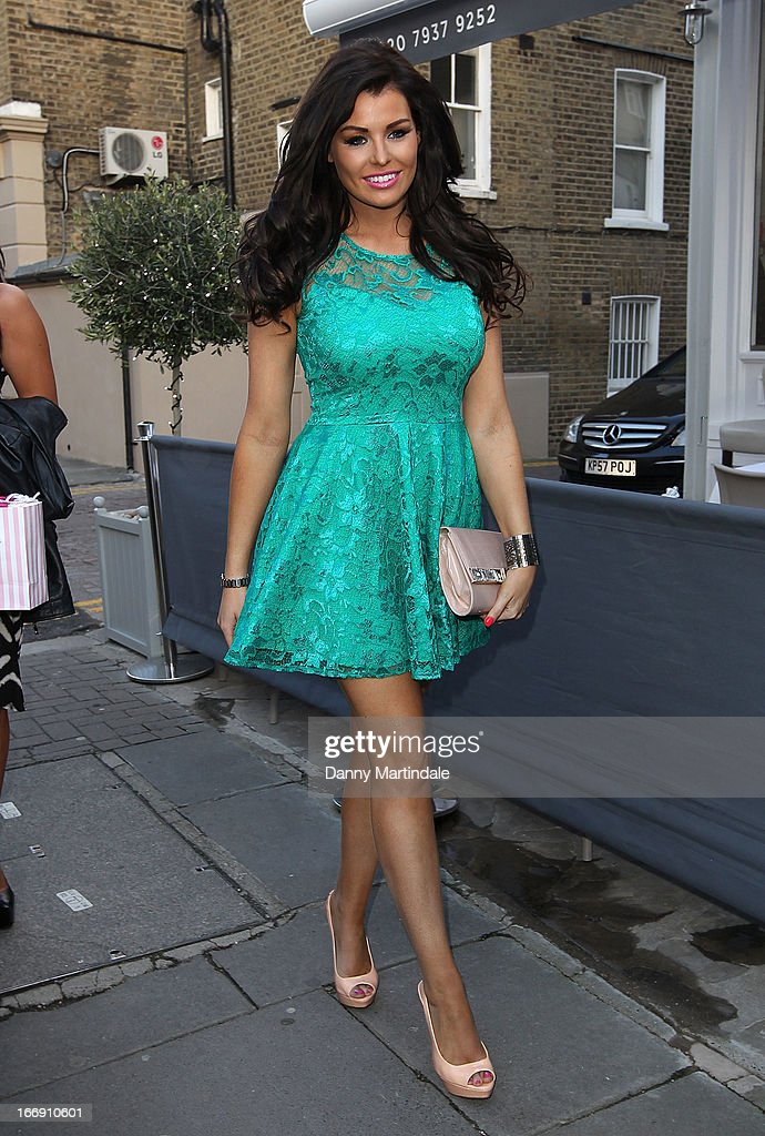 Jessica Wright attends the anniversary party of Tatiana hair extensions on April 18, 2013 in London, England.
