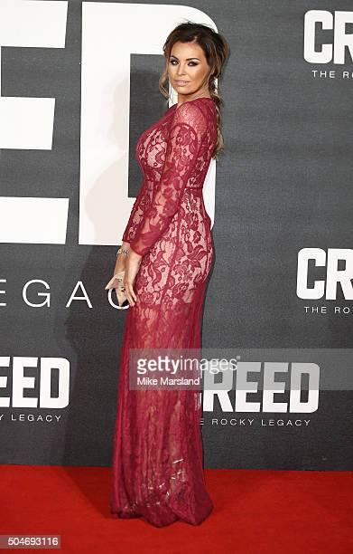 Jessica Wright attends the European Premiere of 'Creed' on January 12 2016 in London England