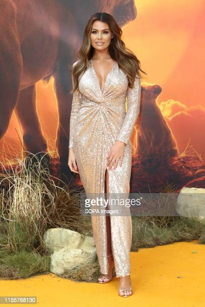 Jessica Wright attends the European Premiere of Disney's The Lion King at the Odeon Luxe cinema Leicester Square in London