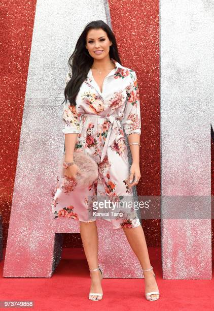 Jessica Wright attends the European Premiere of 'Ocean's 8' at Cineworld Leicester Square on June 13 2018 in London England