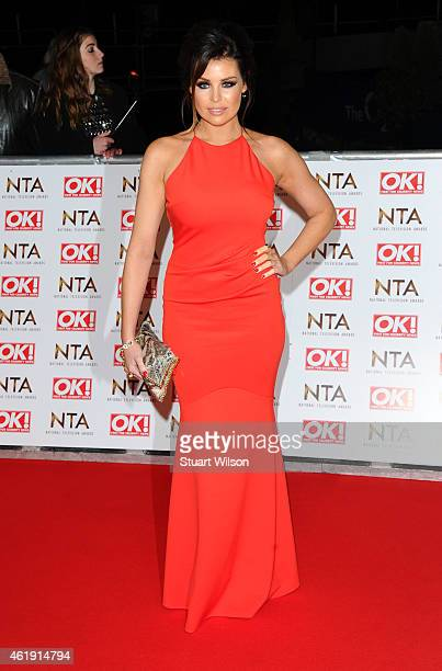 Jessica Wright attends the National Television Awards at 02 Arena on January 21 2015 in London England