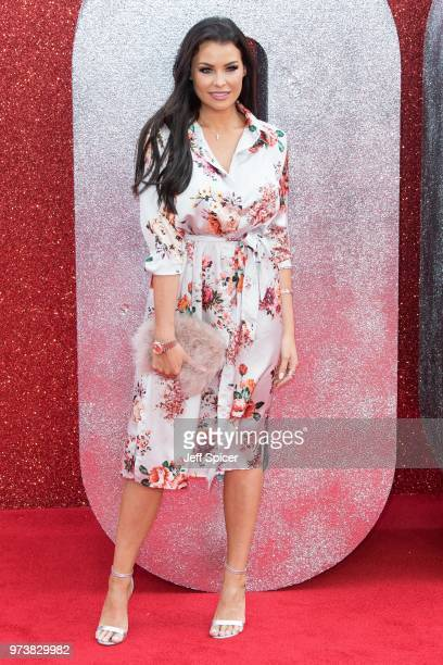 Jessica Wright attends the 'Ocean's 8' UK Premiere held at Cineworld Leicester Square on June 13 2018 in London England