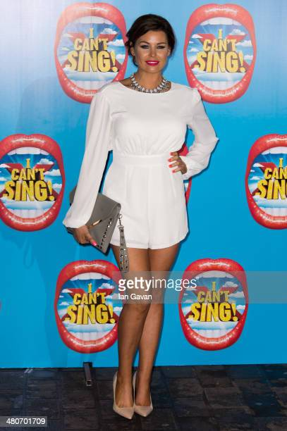 Jessica Wright attends the press night of 'I Can't Sing The X Factor Musical' at London Palladium on March 26 2014 in London England