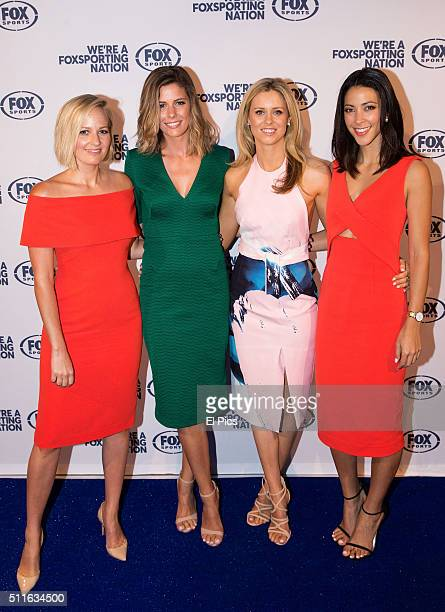 Jessica Yates Lara Pitt Meghan Barnard Tara Rushton attend the Fox Sports 2016 launch on February 22 2016 in Sydney Australia