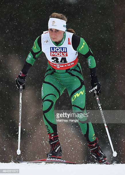 Jessica Yeaton of Australia competes during the Women's 10km CrossCountry during the FIS Nordic World Ski Championships at the Lugnet venue on...