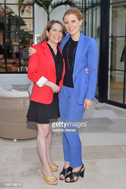 Jessica Yellin and Julia Boorstin attend Fight Like a Mother Book Launch Hosted by Mandana Dayani Julia Sorkinon on June 10 2019 in Los Angeles...
