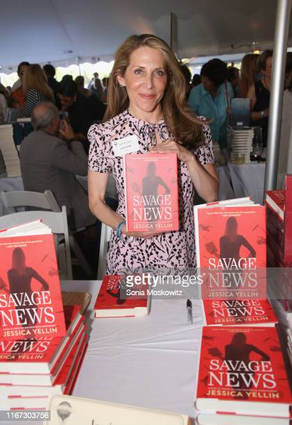 Jessica Yellin at the East Hampton Library's 15th Annual Authors Night Benefit on August 10 2019 in Amagansett New York