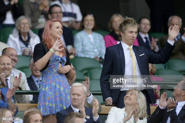 JessicaJane Applegate in the Royal Box during day six of the Wimbledon Championships at The All England Lawn Tennis and Croquet Club Wimbledon