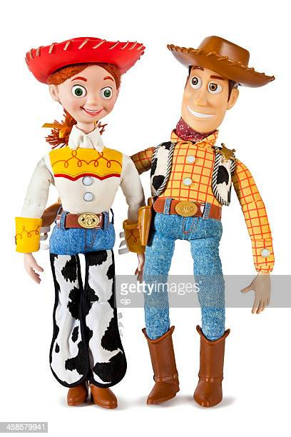 jessie and woody toy story characters - toy story stock photos and pictures