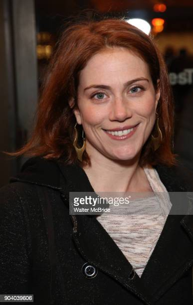 Jessie Austrian attends the Broadway Opening Night Performance of 'John Lithgow Stories by Heart' at the American Airlines Theatre on January 11 2018...