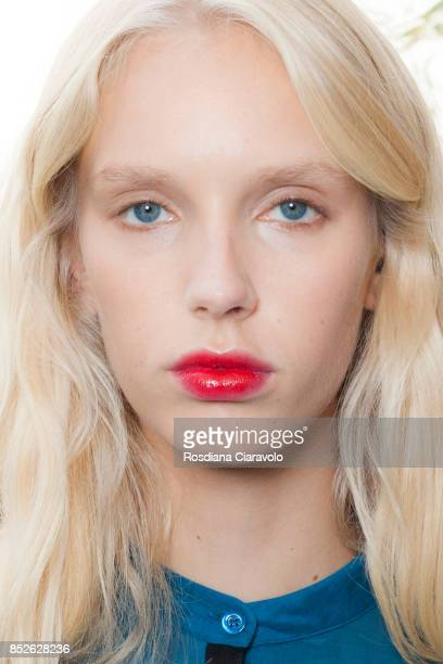 Jessie Bloemendaal is seen ahead of the Philosophy By Lorenzo Serafini show during Milan Fashion Week Spring/Summer 2018 on September 23 2017 in...