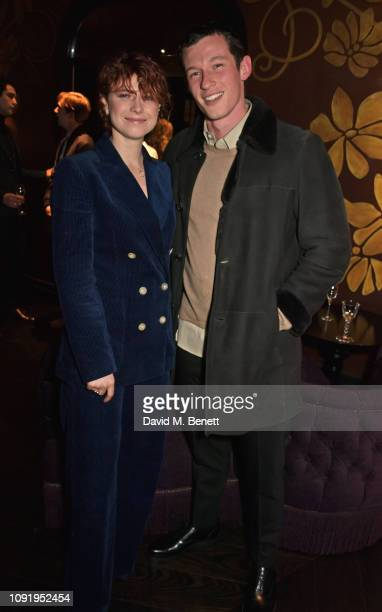 Jessie Buckley and Callum Turner attend the Vanity Fair EE Rising Star Party ahead of the 2019 EE BAFTAs at The Baptist L'Oscar Hotel on January 31...