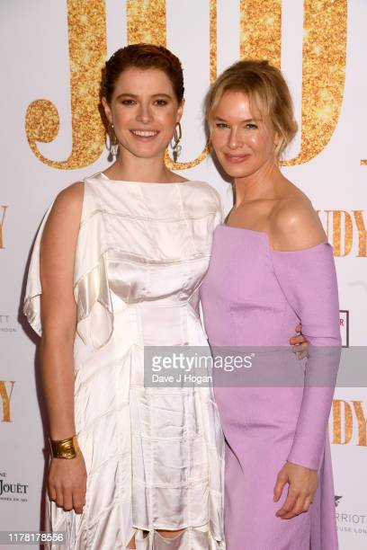 Jessie Buckley and Renée Zellweger attend the Judy European Premiere at The Curzon Mayfair on September 30 2019 in London England
