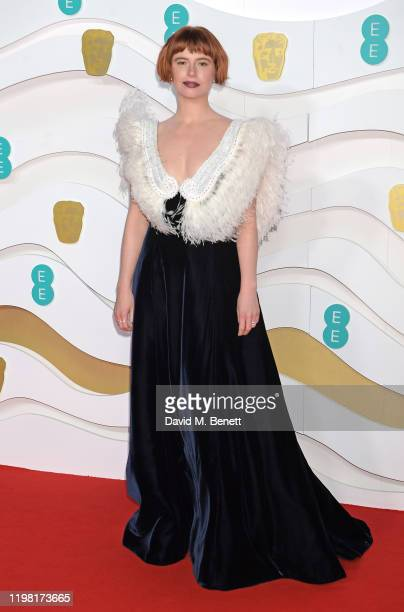 Jessie Buckley arrives at the EE British Academy Film Awards 2020 at Royal Albert Hall on February 2 2020 in London England