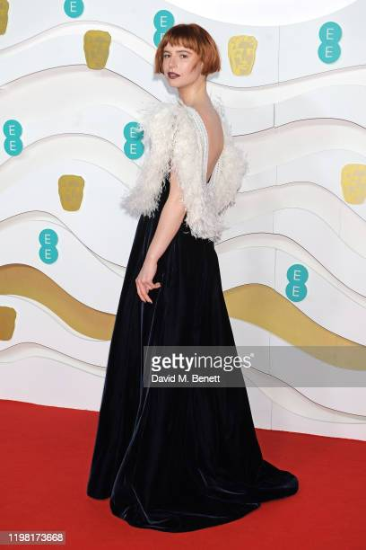 Jessie Buckley arrives at the EE British Academy Film Awards 2020 at Royal Albert Hall on February 2, 2020 in London, England.