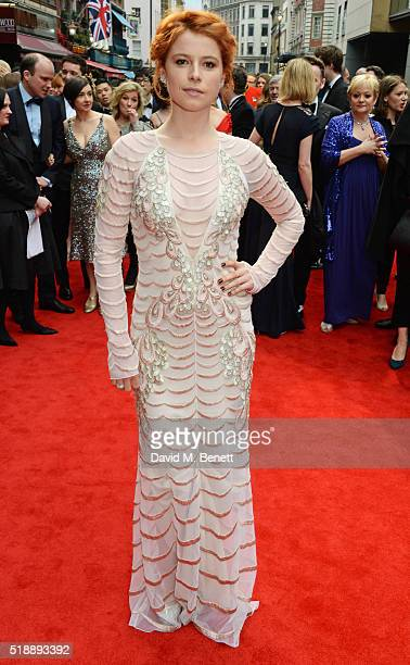 Jessie Buckley arrives at The Olivier Awards with Mastercard at The Royal Opera House on April 3 2016 in London England