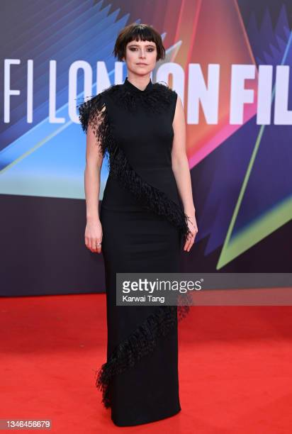 """Jessie Buckley attends """"The Lost Daughter"""" UK Premiere during the 65th BFI London Film Festival at The Royal Festival Hall on October 13, 2021 in..."""