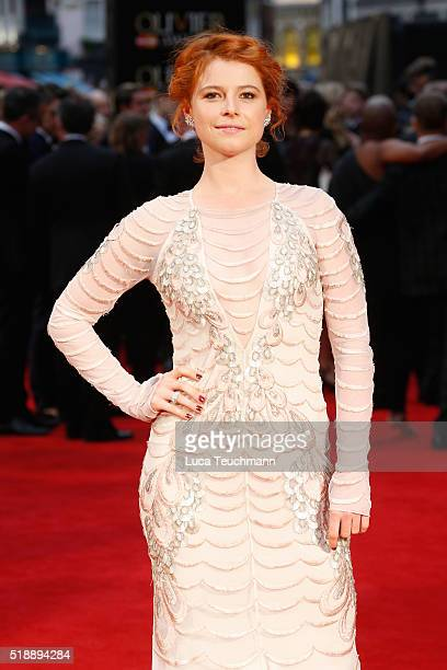 Jessie Buckley attends The Olivier Awards with Mastercard at The Royal Opera House on April 3 2016 in London England