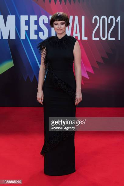 Jessie Buckley attends the UK film premiere of 'The Lost Daughter' at the Royal Festival Hall during the 65th BFI London Film Festival in London,...