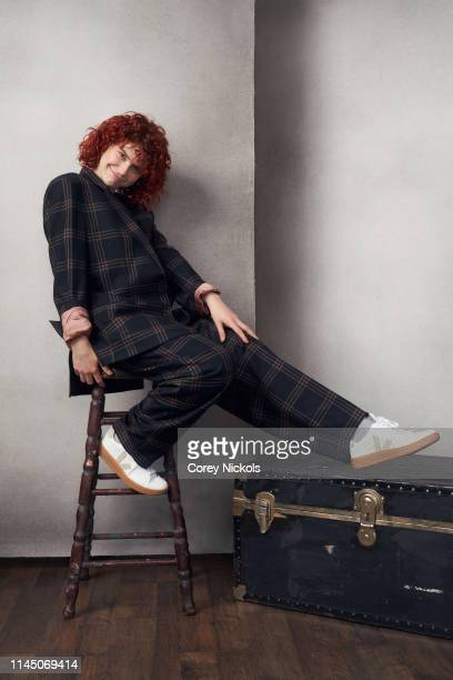 Jessie Buckley of the series 'Chernobyl' poses for a portrait during the 2019 Tribeca Film Festival at Spring Studio on April 25 2019 in New York City