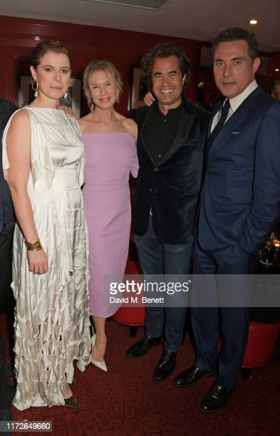 Jessie Buckley Renee Zellweger Rupert Goold and Rufus Sewell attend the Judy European Premiere after party at JW Marriott Grosvenor House London...