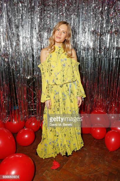 Jessie Bush attends the SelfPortrait store opening afterparty at Central St Martins on March 22 2018 in London England