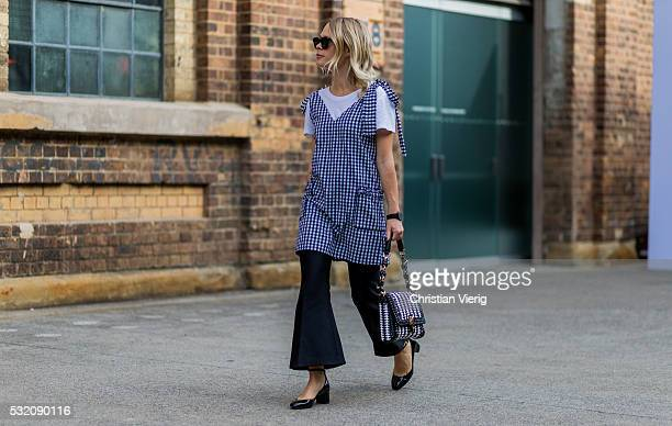 Jessie Bush outside Emma Mulholland at MercedesBenz Fashion Week Resort 17 Collections at Carriageworks on May 18 2016 in Sydney Australia