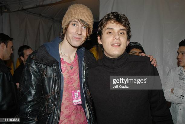 Jessie Camp and John Mayer during VH1 Big in 2002 Awards After Party at Grand Olympic Auditorium in Los Angeles CA United States