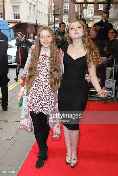 Jessie Cave and Bebe Cave arrive for the UK Premiere of Tale Of Tales at The Curzon Mayfair on June 1 2016 in London England