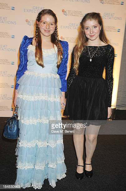Jessie Cave and Bebe Cave attend an after party following the Gala Premiere of 'Great Expectations' which closes the 56th BFI London Film Festival at...