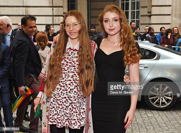 Jessie Cave and Bebe Cave attends the UK Premiere of Tale Of Tales at The Curzon Mayfair on June 1 2016 in London England