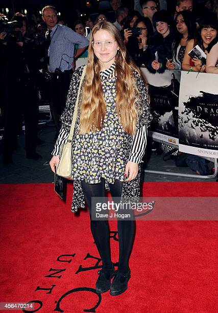 Jessie Cave attends the UK premiere of Dracula Untold at Odeon West End on October 1 2014 in London England