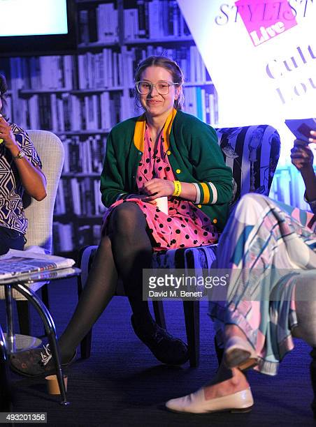 Jessie Cave speaks during day four of Stylist Magazine's first ever 'Stylist Live' event at the Business Design Centre on October 18 2015 in London...