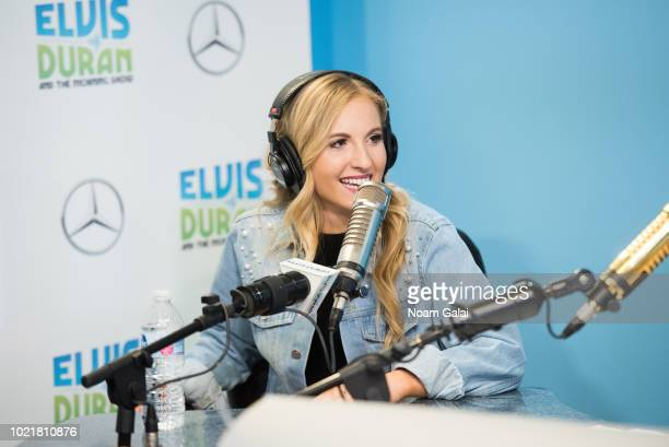 Jessie Chris visits The Elvis Duran Z100 Morning Show at Z100 Studio on August 23 2018 in New York City