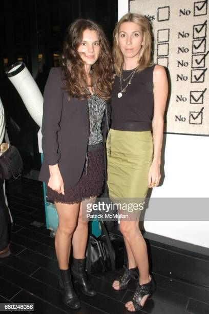 Jessie Cohan and Anastasia Rogers attend UNFRAMED 2009 The Collectors Preview to Benefit ACRIA at 15 Union Park West on June 2 2009 in New York City
