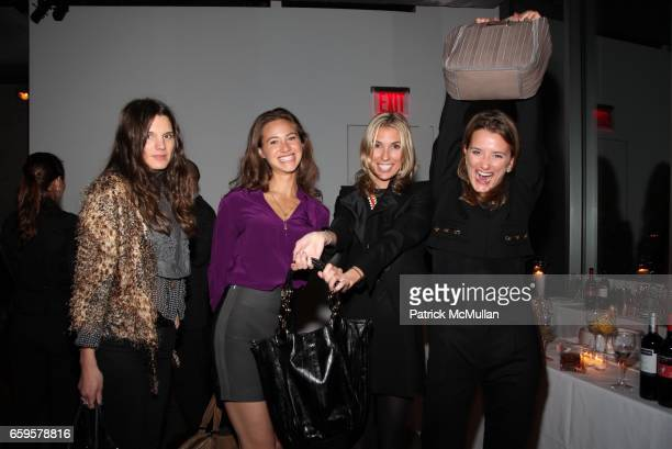Jessie Cohan, Bryna Butler, Anastasia Rogers and Bevin Butler attend MARLBOROUGH Hosts A Cocktail Party In Honor of STEVEN CHARLES at Glass Houses on...