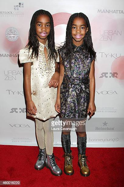Jessie Combs and D'Lila Combs attend the United Against Ebola Benefit at Landmark on the Park on December 5 2014 in New York City