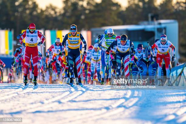 Jessie Diggins of USA competes during the Women's 10km C at the Coop FIS Cross-Country World Cup Falun at on January 30, 2021 in Falun, Sweden.
