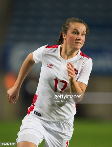 Jessie Fleming of Canada during the 2017 Algarve Cup Final between Spain and Canada at the Estadio Algarve on March 08 2017 in Faro Portugal
