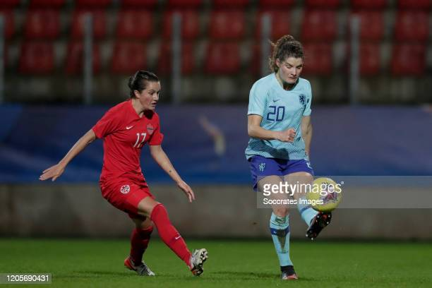 Jessie Fleming of Canada Women Dominique Bloodworth of Holland Women during the International Friendly Women match between Canada v Holland at the...