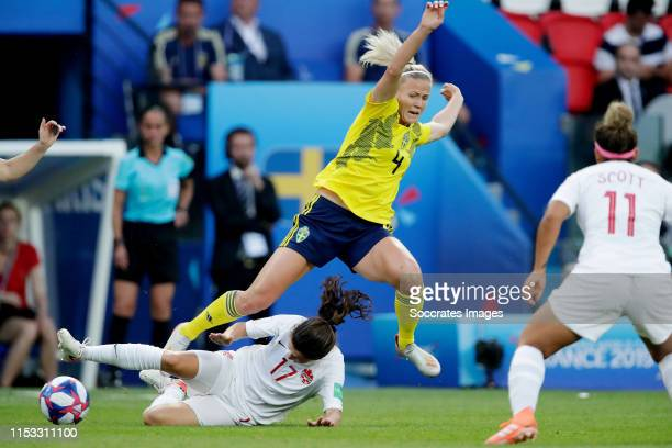 Jessie Fleming of Canada Women Hanna Glas of Sweden Women during the World Cup Women match between Sweden v Canada at the Parc des Princes on June 24...