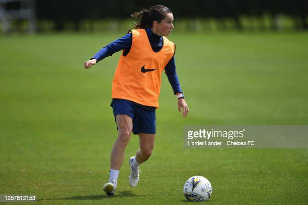 Jessie Fleming of Chelsea in action during a Chelsea FC Women's Training Session at Chelsea Training Ground on July 23 2020 in Cobham England