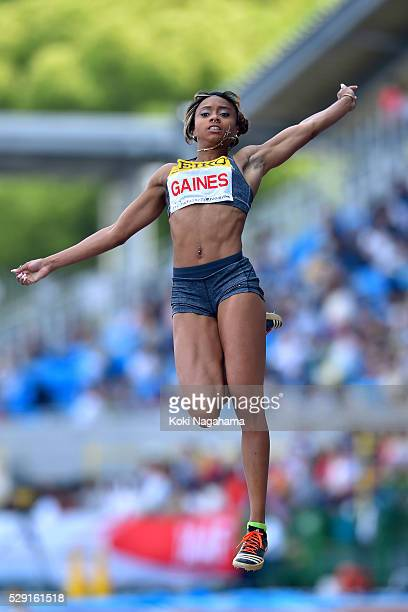 Jessie Gaines of the USA competes in the Women's Long Jump during the SEIKO Golden Grand Prix 2016 at Todoroki Stadium on May 8, 2016 in Kawasaki,...
