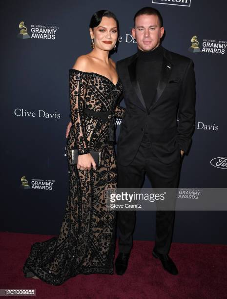 Jessie J and Channing Tatum arrives at the PreGRAMMY Gala and GRAMMY Salute to Industry Icons Honoring Sean Diddy Combs at The Beverly Hilton Hotel...
