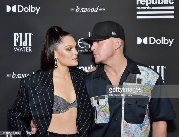 Jessie J and Channing Tatum attend FIJI Water At Republic Records 2020 Grammy After Party on January 26 2020 in West Hollywood California