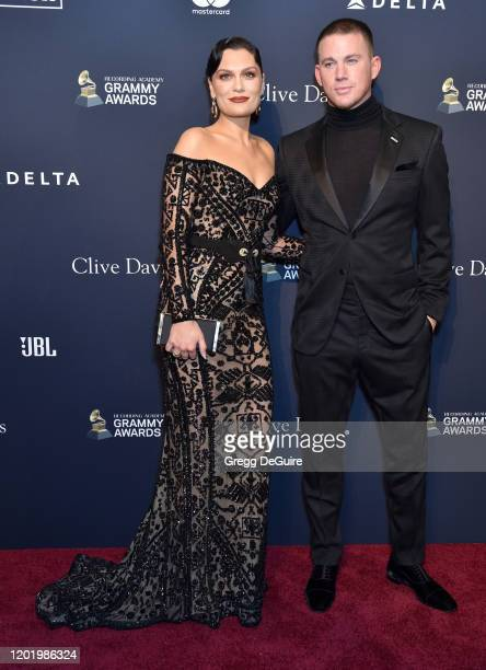 Jessie J and Channing Tatum attend the PreGRAMMY Gala and GRAMMY Salute to Industry Icons Honoring Sean Diddy Combs on January 25 2020 in Beverly...
