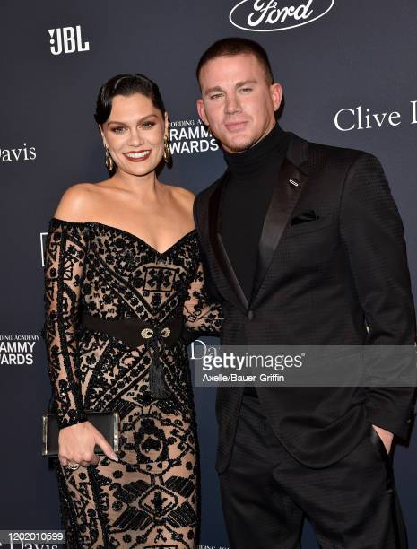 Jessie J and Channing Tatum attend the PreGRAMMY Gala and GRAMMY Salute to Industry Icons Honoring Sean Diddy Combs at The Beverly Hilton Hotel on...