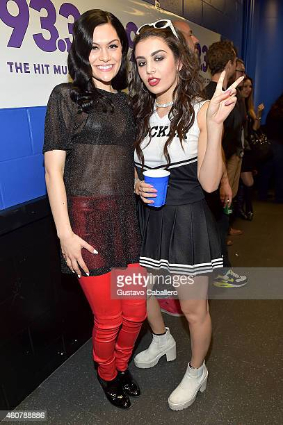 Jessie J and Charli XCX attend 93.3 FLZ's Jingle Ball 2014 at Amalie Arena on December 22, 2014 in Tampa, Florida.
