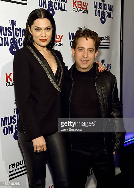 Jessie J and Executive Vice President Of Republic Records, Charlie Walk attend Musicians On Call Celebrates Its 15th Anniversary Honoring Kelly...