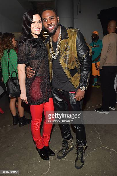 Jessie J and Jason Derulo attend 93.3 FLZ's Jingle Ball 2014 at Amalie Arena on December 22, 2014 in Tampa, Florida.